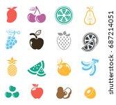 fruit icon | Shutterstock .eps vector #687214051