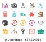 finance icons | Shutterstock .eps vector #687214099
