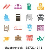 education icons | Shutterstock .eps vector #687214141