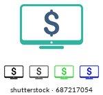 dollar monitor flat vector... | Shutterstock .eps vector #687217054