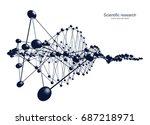 abstract construction. 3d... | Shutterstock . vector #687218971