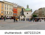 krakow  poland   may 25  2017 ... | Shutterstock . vector #687222124