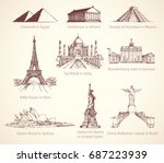 world famous touristic place of ... | Shutterstock .eps vector #687223939