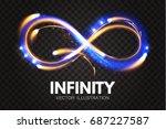 shining infinity symbol.... | Shutterstock .eps vector #687227587