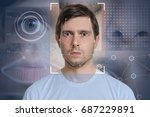 face detection and recognition...   Shutterstock . vector #687229891
