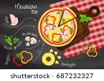 "pizza ""hawaiian"" on the... 
