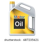 can of motor oil. 3d... | Shutterstock . vector #687235621