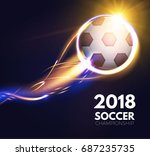 soccer ball with light effects. ... | Shutterstock .eps vector #687235735