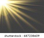 sun rays. lens flare... | Shutterstock .eps vector #687238609
