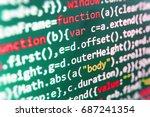 writing programming functions... | Shutterstock . vector #687241354