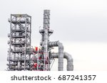 close up industrial zone. plant ... | Shutterstock . vector #687241357