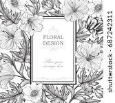 floral background. garden... | Shutterstock .eps vector #687242311