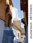 mosque street chefchaouen... | Shutterstock . vector #687243631