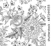 floral seamless pattern. summer ...   Shutterstock .eps vector #687244555