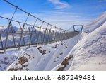 Suspension Bridge On Mt. Titli...