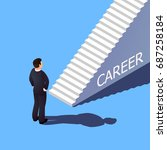 isometric 3d career concept.... | Shutterstock .eps vector #687258184