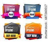 sale banner design template... | Shutterstock .eps vector #687260017