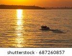 Beautiful Seascape At Sunset....