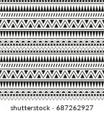 seamless pattern aztecs | Shutterstock .eps vector #687262927