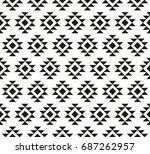 seamless pattern aztecs   Shutterstock .eps vector #687262957
