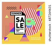 summer sale memphis style web...   Shutterstock .eps vector #687264631