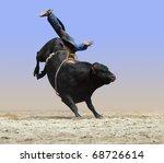 Cowboy Falling Off A Bull...
