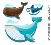 vector set with ocean and sea... | Shutterstock .eps vector #687268144