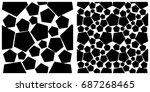seamless pattern of pentagon....   Shutterstock .eps vector #687268465
