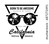 t shirt graphics   vector print ... | Shutterstock .eps vector #687272491