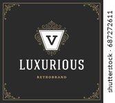 ornament logo design template...   Shutterstock .eps vector #687272611