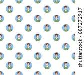 man avatar pattern seamless... | Shutterstock .eps vector #687272917