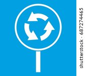 circular motion road sign icon... | Shutterstock .eps vector #687274465