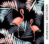 tropical pattern | Shutterstock .eps vector #687276424