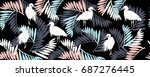 tropical pattern   Shutterstock .eps vector #687276445