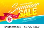 summer sale template banner ... | Shutterstock .eps vector #687277369
