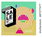 summer sale memphis style web... | Shutterstock .eps vector #687277477