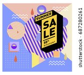 summer sale memphis style web...   Shutterstock .eps vector #687280261