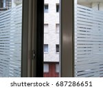 window see through from the... | Shutterstock . vector #687286651