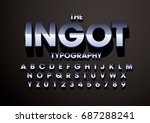 vector of modern metallic font... | Shutterstock .eps vector #687288241