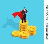 isometric businessman standing...   Shutterstock .eps vector #687288451