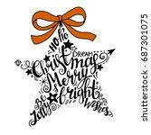 vector winter holidays... | Shutterstock .eps vector #687301075