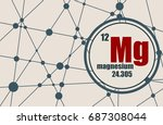 magnesium chemical element.... | Shutterstock . vector #687308044