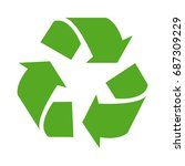 green recycle or recycling... | Shutterstock .eps vector #687309229