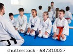 different ages kids expressing... | Shutterstock . vector #687310027