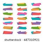 infographic origami banner... | Shutterstock .eps vector #687310921
