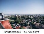 scenic rooftop view of big... | Shutterstock . vector #687315595