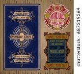 vector vintage items  label art ... | Shutterstock .eps vector #687319264