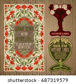 vector vintage items  label art ... | Shutterstock .eps vector #687319579