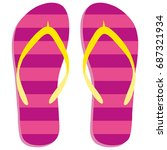 Colored Flipflops Icon....
