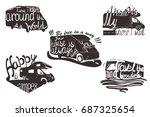vector illustration of set... | Shutterstock .eps vector #687325654